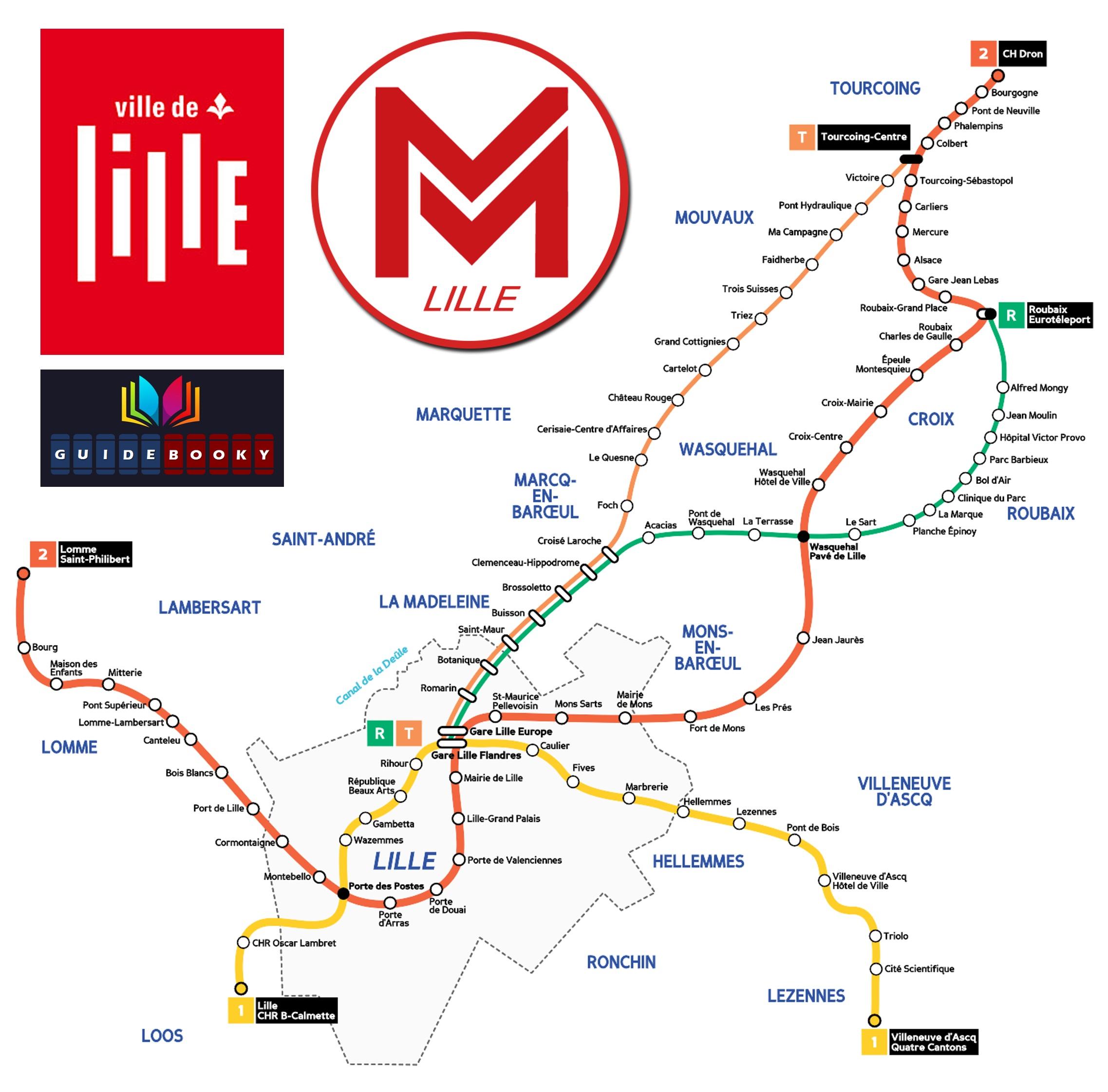 Plan m tro lille guidebooky le plan du m tro de lille pdf - Magasin metro lille ...