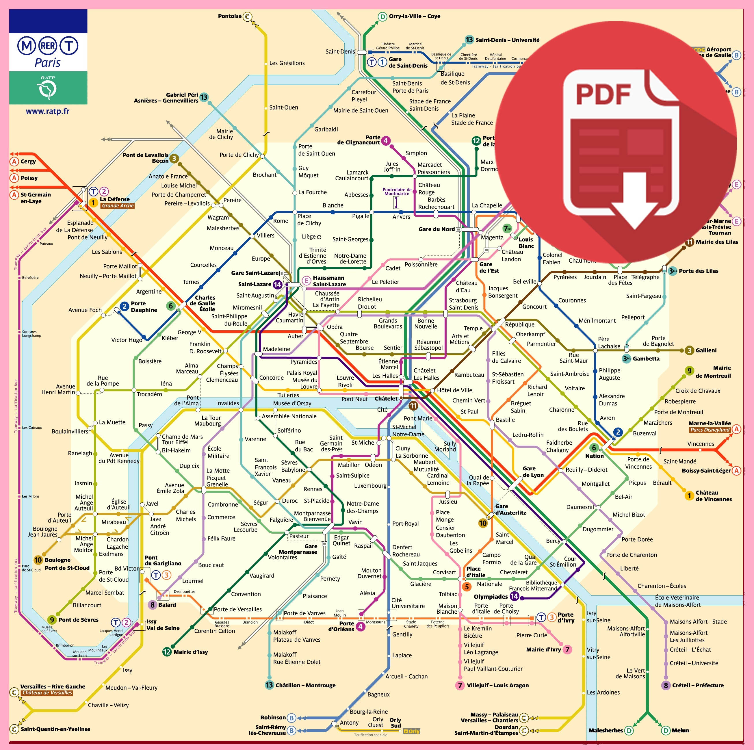 Plan Métro Paris 2017   Guidebooky le Plan du Métro de Paris en 2017